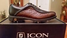 2014 Footjoy FJ ICON Mens Golf Shoes 52161 NEW Blk/Brn Snake 10.5M  $349 RET