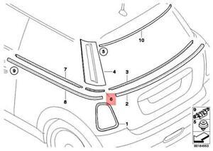 Genuine MINI Cooper One R56 Coop.S BEV Bracket Column C Cover Right 51372754776