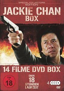 Jackie Chan : 14 Filme Box - 4 DVDs Box, FSK18, gebr.-gut