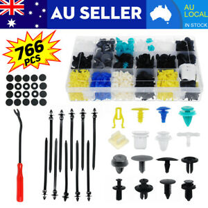 762PCS Car Trim Body Clips Kit Rivet Retainer Door Panel Bumper Plastic
