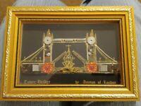 Tower Bridgeby Ammon of London Framed Watch Parts Art Steampunk Vintage
