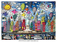 The Statue of Liberty welcomes all New York Kunstdruck Poster Plakat Rizzi 38