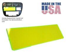 GREEN FLUORO RADIO BLOCK OFF DELETE PLATE fits HONDA CIVIC 96-98 CX DX LX EX HX