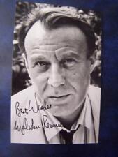 Malcolm Rennie + note    - Autograph  (GC5)  5.5  x 3.5 inch