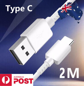 USB-C Type C Charger Cable Charging Cable Cord 2M for Samsung OPPO Xiaomi Google