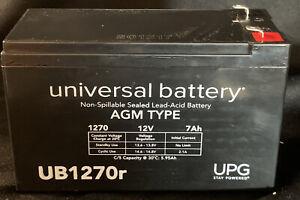 4 UPG Universal Batteries UB1270r Non-Spillable Sealed Lead-Acid Battery 12V
