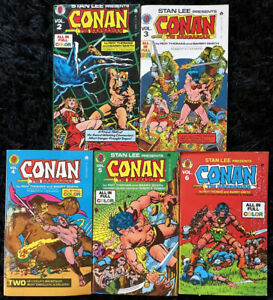 Stan Lee Presents: Conan The Barbarian Vol 2 3 4 5 6 - Ace Tempo Marvel PB 1973