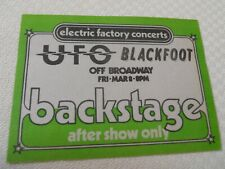 Ufo - Blackfoot - backstage pass After show only Tower Theater presented by Efc