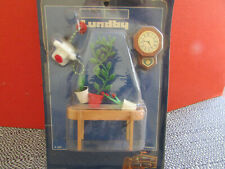 LUNDBY DOLL HOUSE FURNITURE TABLE PLANTS TELEPHONE CLOCK SWEDEN NEW    L165