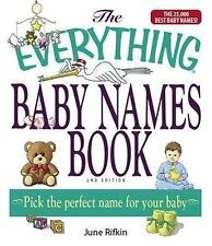 The Everything Baby Names Book (Paperback or Softback)