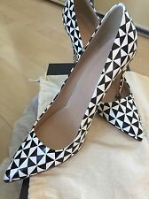 BNIB J Crew Ladies Beautiful Leather Monochrome Shoes Size 8