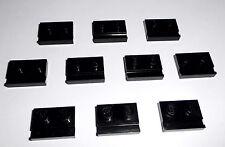 Lego (32028) 10 Platten 1x2 mit Schiene, in schwarz aus 4483, 8479, 60052, 6752