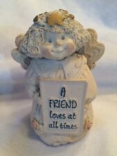 "Cold Cast Angel Cherub by Abbey Press ""A Friend Loves at All Times"" Figurine"