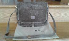 Bagheera, Suede & Leather Crossover Handbag. Excellent Condition!