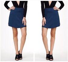 ORIGINAL American Apparel Hyperion Mini Flare Skirt Navy Dark Blue Melange M