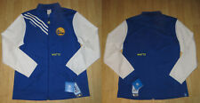 Adidas Golden State Warriors Track Jacket Womens LARGE L NBA Blue White RARE NEW