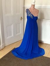 """monsoon silk one shoulder maxi  prom """"Dominica"""" dress size 12 Ec Holiday"""