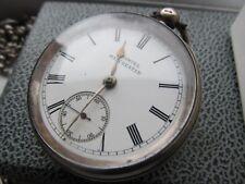 Argent Antique Samuel Manchester Clé Vent, Chester Hallmark, montre de poche.
