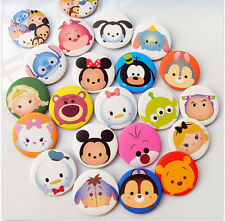 Lot 20pcs cartoon tsum tsum mickey minnie mixed children Badge Button Pin 2.5cm