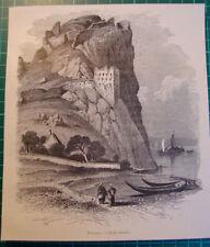 Bratislava Die Burg Devín Burg Theben antique print 1892 holzstich
