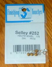 Selley #252 Headlight Jewels .176 Dia. (10 in Pkg)  (HO Scale)