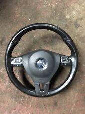 VW MULTI FUNCTIONAL STEERING WHEEL & AIRBAG SCIROCCO MK6 GOLF GT TDI PASSAT CC