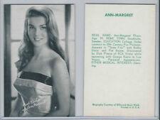 1960's Exhibit, Salutations Female Singers, Bio Back, Ann Margret, ZQL