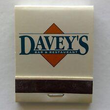 Davey's Bar & Restaurant Frankston Sunnybank Ferny Grove Matchbook (MK27)