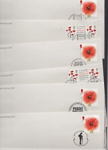 GB 2018 Remembrance Armistice choice of SW1 SW1A BFPS 3219 FDC special pmks
