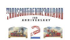 2019 Transcontinental Railroad Forever PROGRESSIVE PROOF header strip set, #5380
