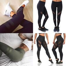 UK Womens Sports Gym Yoga Running Fitness Leggings Pants Athletic Trousers S-XL