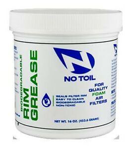 No-Toil Biodegradable Rim Grease Tub for Quality Foam Filters and Air Box 16oz