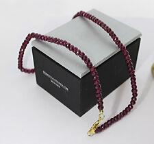 WOW Rubin-Collier total 110 carat Rot 925 Silber Wert 850 Euro Neu (2994)