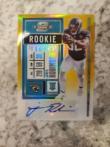 James Robinson 2020 Optic Contenders Rookie Ticket Auto Gold /10 RC 203 Card