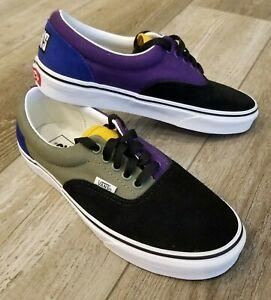 Vans Off The Wall Classic Shoes 500714 Black/Blue/Green/P Unisex Men 6.5 Women 8