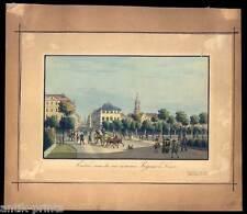 Dresden - Gouachierte Umrißradierung - wohl Johann Carl August Richter um 1820