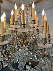 A Fine Louis XV style Gilt-Bronze & cut crystal 18 light chandelier, late  19th