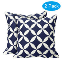 """2 Pack 18"""" Throw Pillows Home Decor Cotton Embroidery Pillow Case Cushion Cover"""