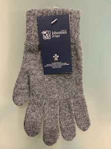 100% Lambswool Gloves | Johnstons of Elgin | Made in Scotland | Charcoal | Warm