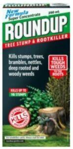 Roundup Tree Stump Root Killer 250ml Liquid Super Concentrate Weedkiller Nettles