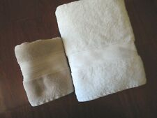 RALPH LAUREN OFF WHITE & SANDSTONE REGENT (1PC) THICK & BATH HAND TOWELS SET