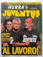 HURRA' JUVENTUS N. 8 AGOSTO 1995 + POSTER SQUADRA RAVANELLI VIALLI BETTEGA