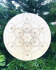 wooden crystal grid