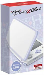 NEW Nintendo 2DS LL Console System White x Lavender JAPAN import Japanese NEW