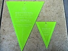 Set of 2 Simple Wedge Templates Large & Small Wedge by Missouri Star Quilt Co