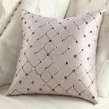 1PCS Lattice Pattern Pillow Case Home Room Decor Back Throw Sofa Cushion Cover