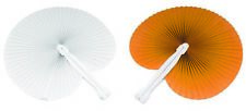 100 Ventagli 50 bianchi 50 arancioni bomboniera per matrimoni,comunioni,feste