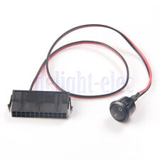 New PC Server ATX PSU 24Pin Female Socket Starter Switch Button Power Cable DH