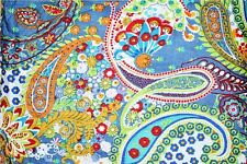 Indian Natural Cotton Screen Paisley Print Dress Fabric Jaipuri Fabric 10 Yard