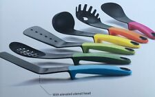 Joseph 6-Piece Germ Heat Resistant Elevated Utensil Set Kitchen Gadget Soft Grip